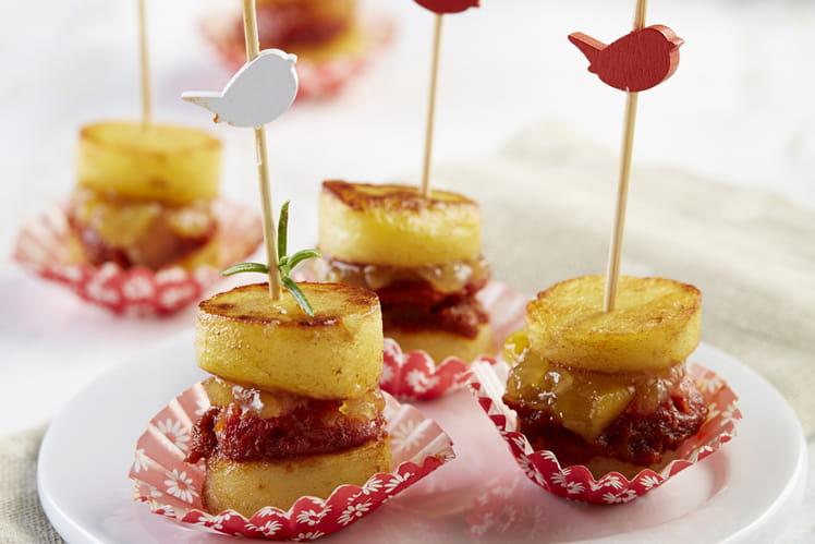 Macaron de Ratte du Touquet au confit d'oignons et chorizo