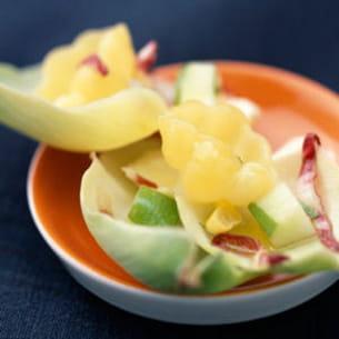 salade de trévise aux pommes râpées