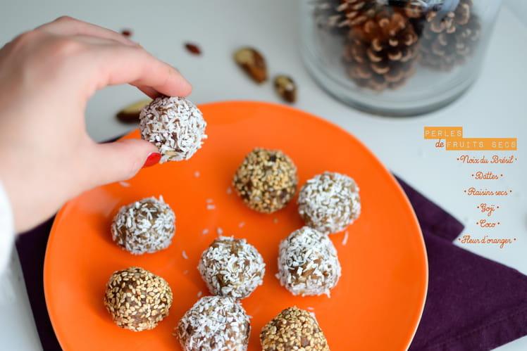 Perles de fruits secs parfumées à la fleur d'oranger