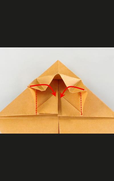 Origami chat - Etape 11