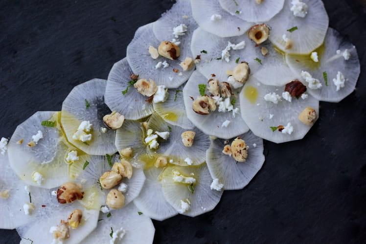 Carpaccio de radis blanc