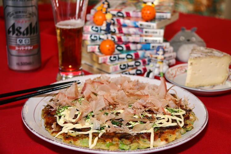 Galette pizza japonaise Okonomiyaki, お好み焼き