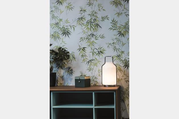 Papier peint Bambous bleu par Isidore Leroy