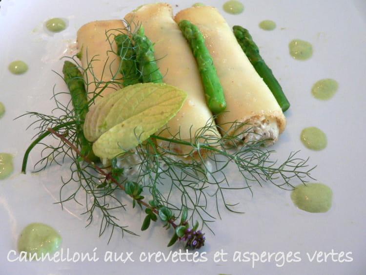 Recette de cannelloni aux crevettes et asperges vertes - Cuisiner les asperges vertes ...