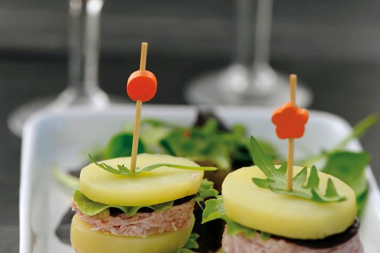 Burger de pommes de terre Princesse Amandine au pâté Hénaff®
