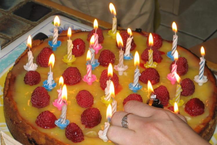 Cheesecake citron-framboise