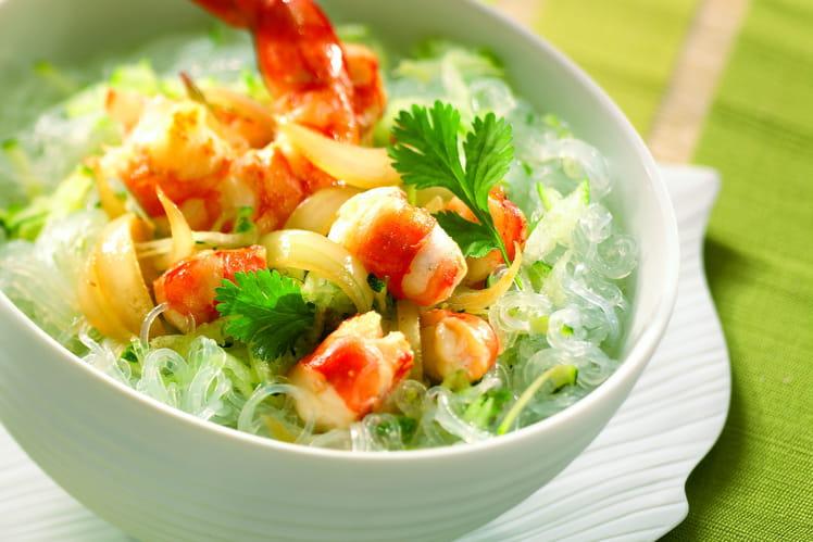 Vermicelles de soja fraîcheur aux crevettes
