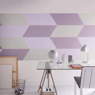 peinture de la gamme équilibre satin de tollens chez castorama coloris parme,