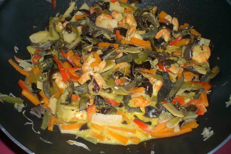 Riz au curry et aux crevettes