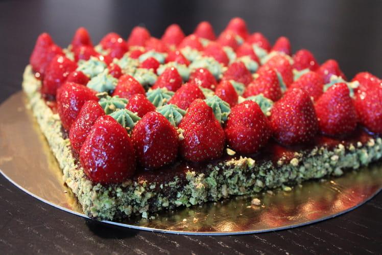 Tarte fraise/pistache façon Christophe Michalak