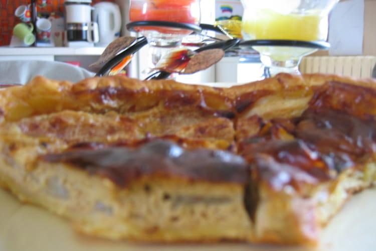 Tarte aux poires et  fromage blanc
