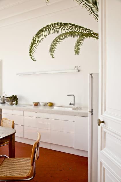 Une cuisine 100% blanche