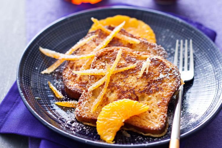 Pain perdu aux zestes d'orange confits, sans gluten