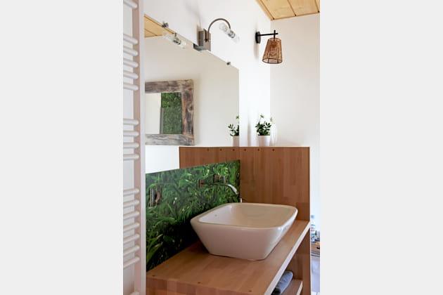 Un salle de bains végétalisée