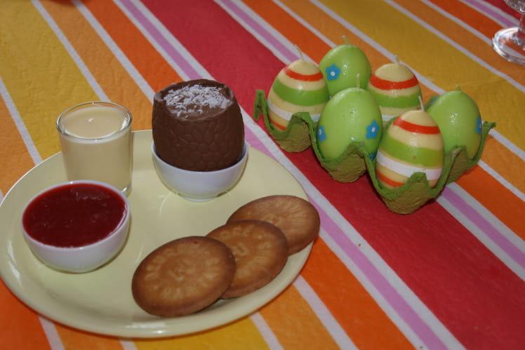 Oeufs de Pâques au chocolat praliné