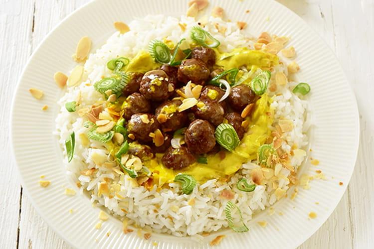 Boulettes en curry express
