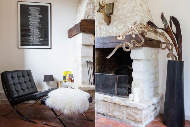 Autour de la cheminée