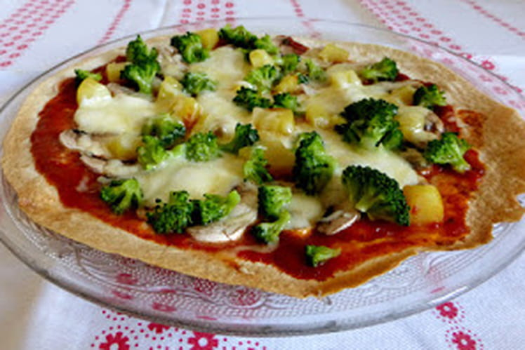 Pizza tortilla aux légumes