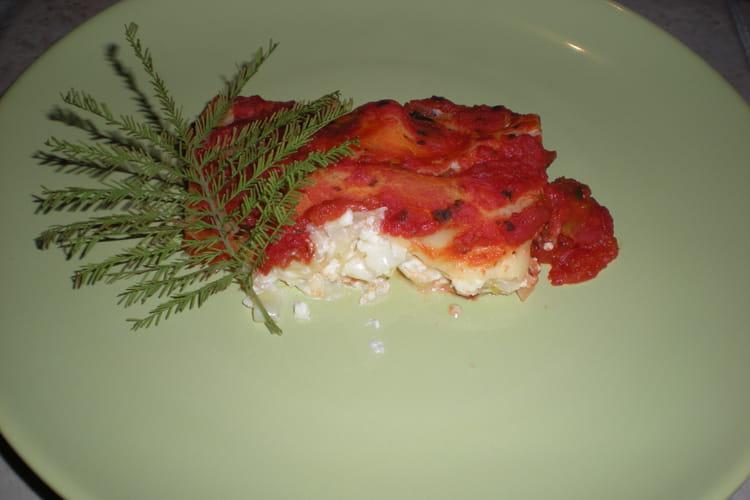 Cannellonis au brocciu et aux poireaux