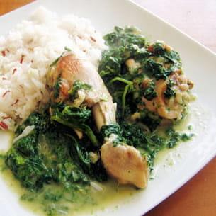 poulet aux épinards et au lait de coco