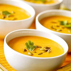 soupe des '4 c' : carottes-coco-curry-coriandre