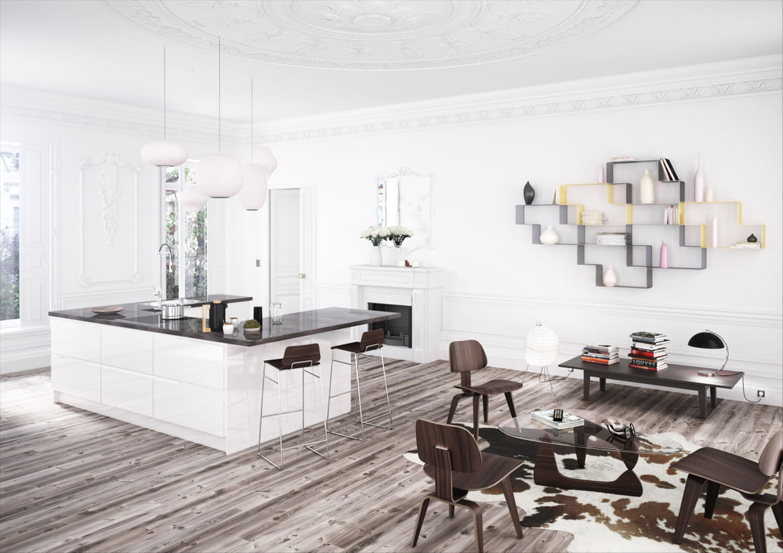 cuisine modena d 39 ixina. Black Bedroom Furniture Sets. Home Design Ideas