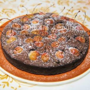 fondant chocolat-cerises