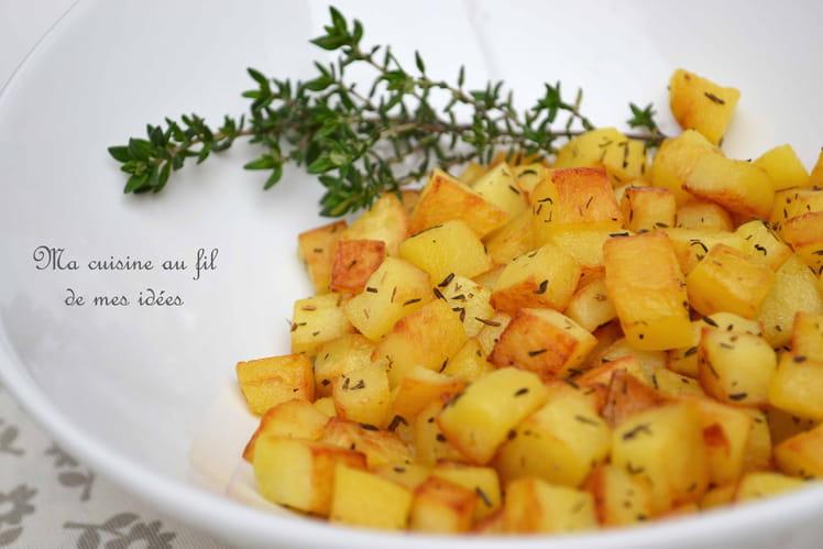 Pommes de terre sautées au thym (pommes Parmentier)
