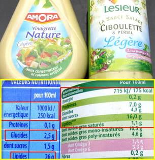 vinaigrette nature amora et la sauce salade ciboulette et persil lesieur.