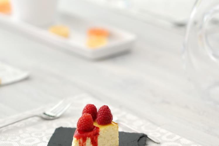 Cheesecake ultramoelleux et sauce framboise