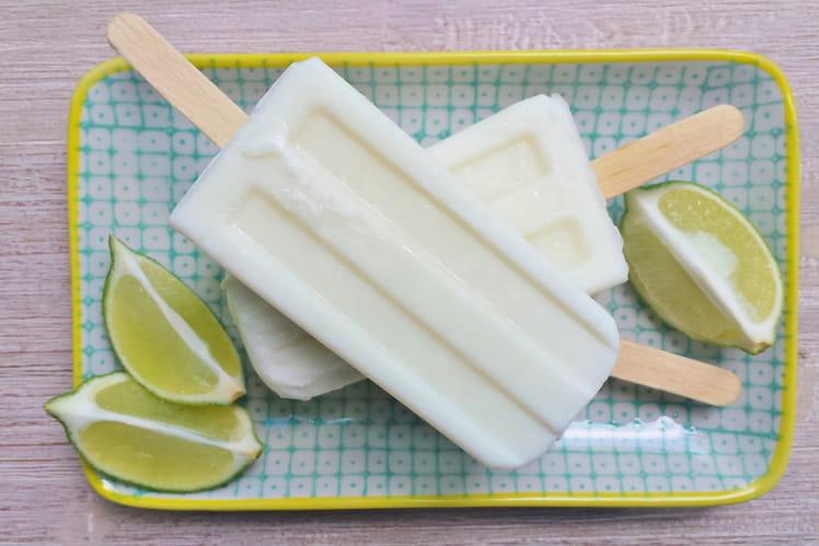 Popsicles coco citron vert