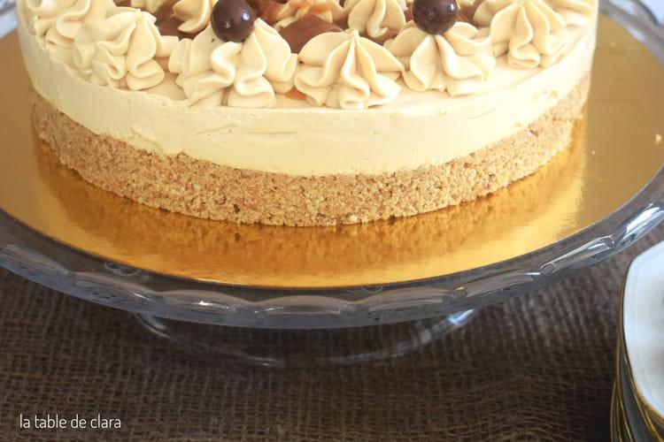 Cheesecake sans cuisson au caramel beurre salé