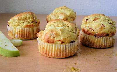 muffins à l'indienne (poulet, curry et pomme)