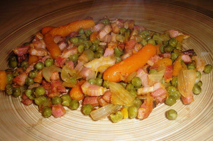 Recette de petits pois et carottes la recette facile - Comment cuisiner des petit pois en boite ...