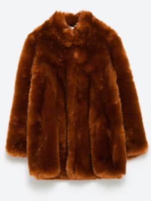 De Fausse Manteau En Fourrure Zara w65gRq