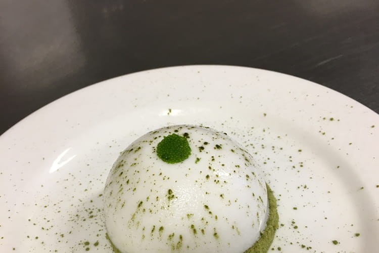 Dôme citron vert-coco, financier matcha