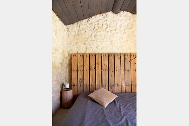 Une palette pour tête de lit