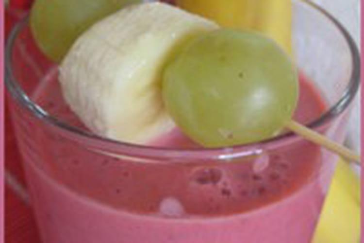 Smoothie banane-framboise