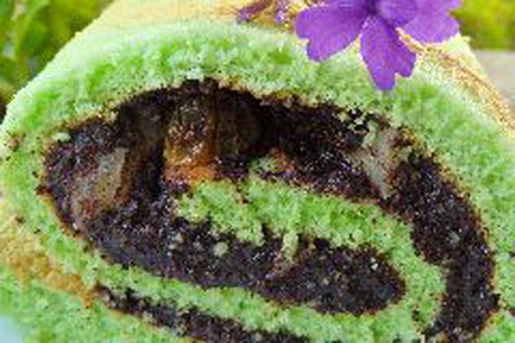 Gâteau roulé au pavot parfumé au pandan