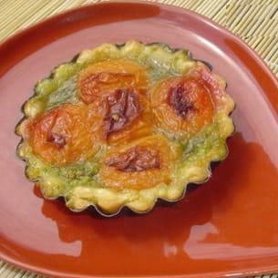 tartelettes aux abricots et à la pistache