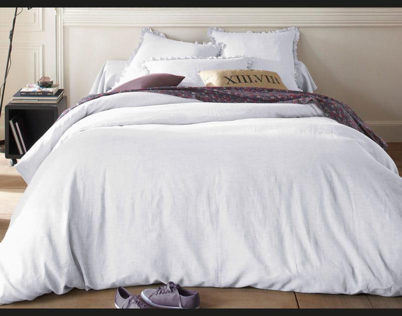 Linge de lit en lin blanc