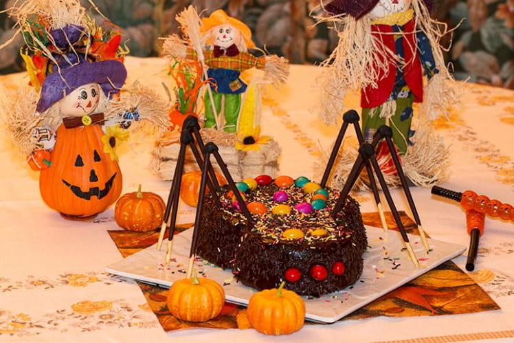 Gâteau Araignée d'Halloween