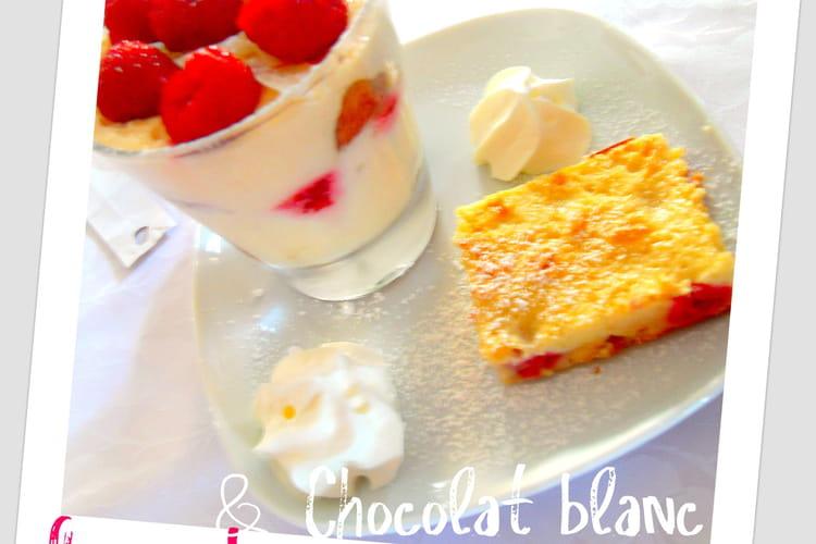 Tiramisu framboises et chocolat blanc