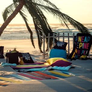 drap de plage motif ananas d'h&m home