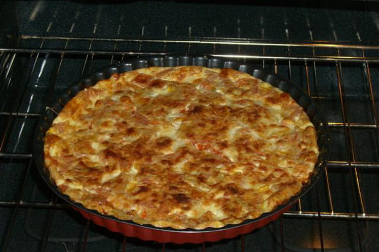 Quiche sans pâte à la tomate et à la mozzarella