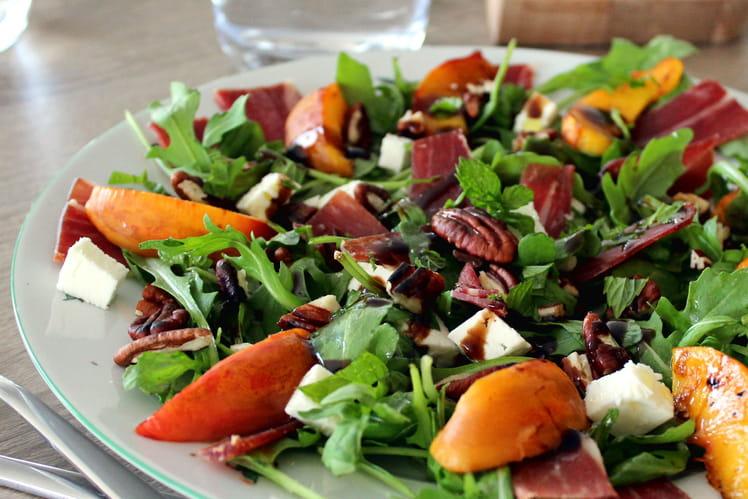 Salade de Nectarine et Jambon Ibaïona (ou Ibaïama)