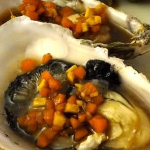 huîtres à l'asiatique
