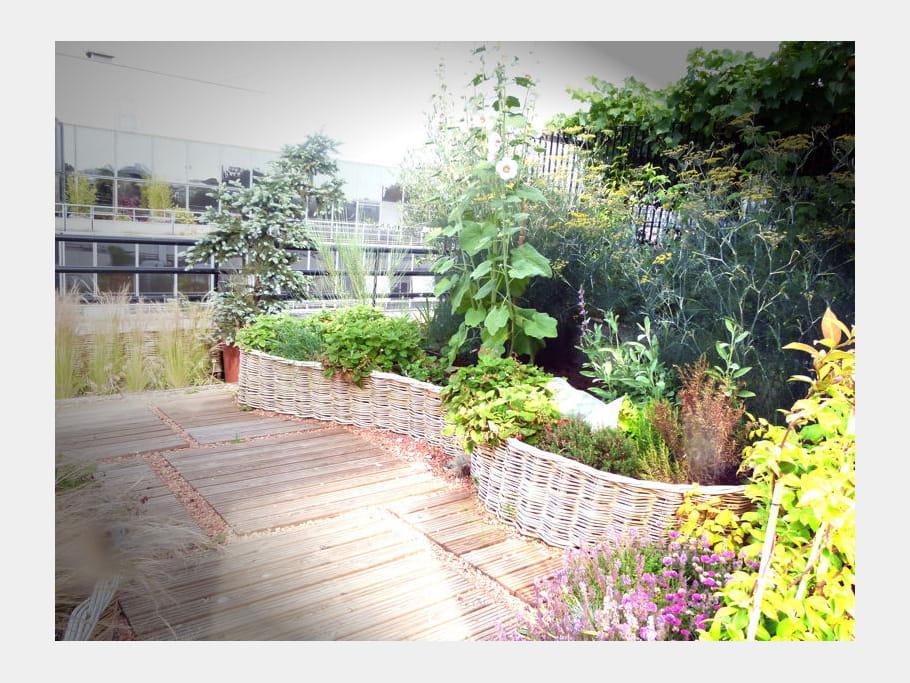 des plessis en osier un toit terrasse fa on jardin de
