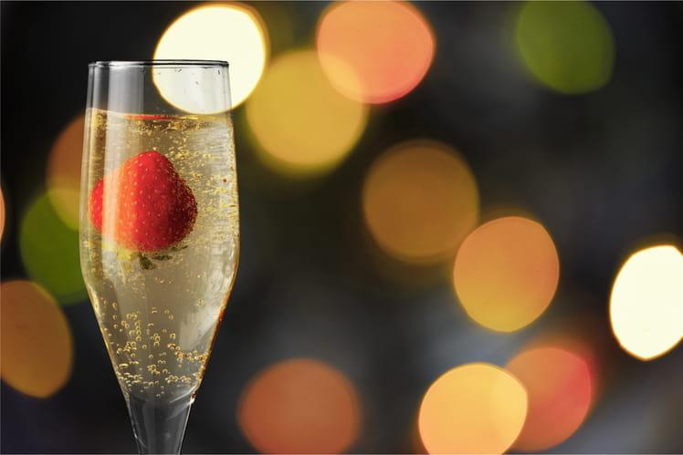 Cocktail champagne et bitter