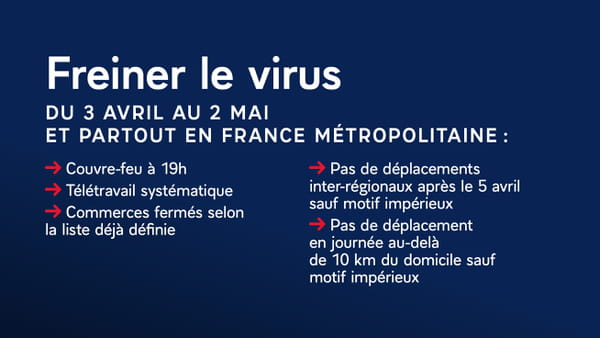 Mesures sanitaires en France du 3 avril au 2 mai